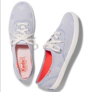 NEW Keds Pineapple Chambray Slip On Shoes